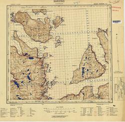 Norway 1:100,000 , Series GSGS 4090, Harstad